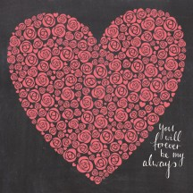 "Kaisercraft XO My Heart 12""x12""  Gloss Paper PS378"