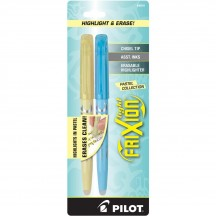 Pilot FriXion Highlight & Erase Pens - Yellow and Blue