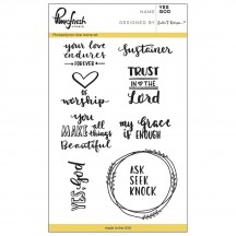 "Pinkfresh Studio Yes God 4""x6"" Clear Stamp Stamp Set PFCS2616"