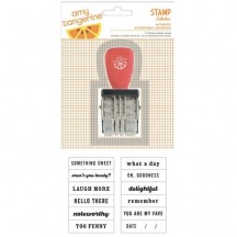 American Crafts Amy Tangerine Yes Please Roller Phrase Stamp 59175