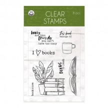 P13 The Garden of Books Clear Stamp Set P13-GAR-30
