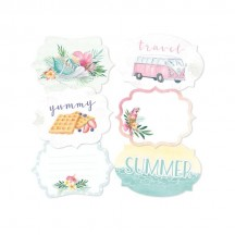 P13 Summer Vibes Cardstock Decorative Tags 04 P13-VIB-24