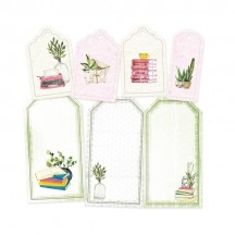 P13 The Garden of Books Cardstock Decorative Tags 03 P13-GAR-23