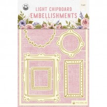P13 Stitched with Love 02 Light Chipboard Embellishments P13-SWL-45