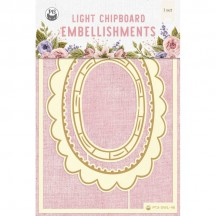 P13 Stitched with Love 03 Light Chipboard Embellishments P13-SWL-46