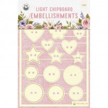 P13 Stitched with Love 06 Light Chipboard Embellishments P13-SWL-48