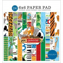 "Carta Bella Zoo Adventure 6""x6"" Double-Sided Paper Pad ZA128023"