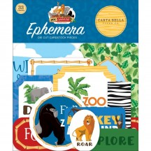 Carta Bella Zoo Adventure Ephemera Die Cut Cardstock Pieces ZA128024